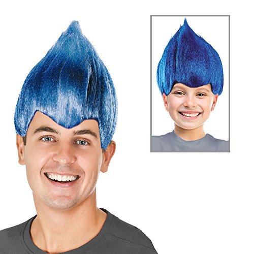 Trolls Costume Blue Troll Doll Costume Blue Troll Wig Blue Troll Hair Wig Troll ()