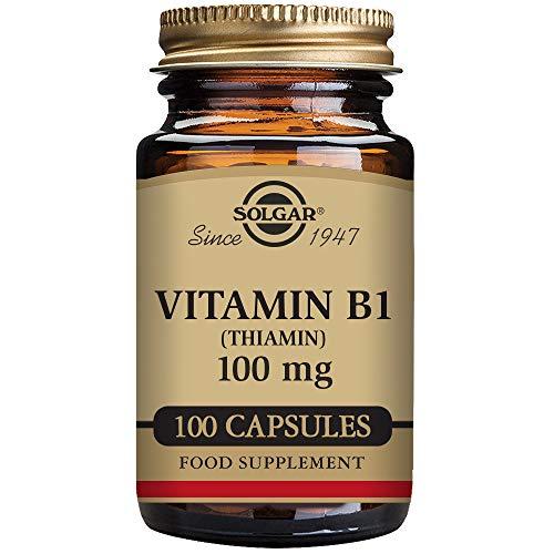 Solgar – Vitamin B1  100 mg, 100 Vegetable Capsules
