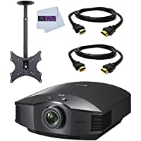 Sony VPL-HW65ES Full HD SXRD Home Theater Projector + TUFF MOUNT C7016 High Quality Durable Ceiling TV Mount for 13-Inch to 37-Inch Displays + 2 HDMI Cables