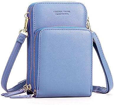 Mini bolso multifunción de hombro para mujer, cartera, bolso