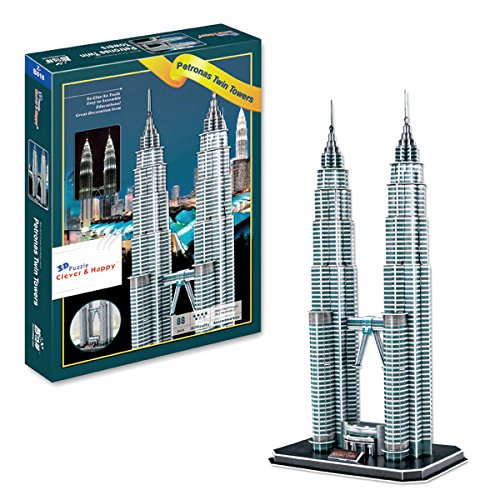 Cheap AMPERSAND SHOPS Petronas Twin Towers 3D Puzzle (86 Pcs) free shipping