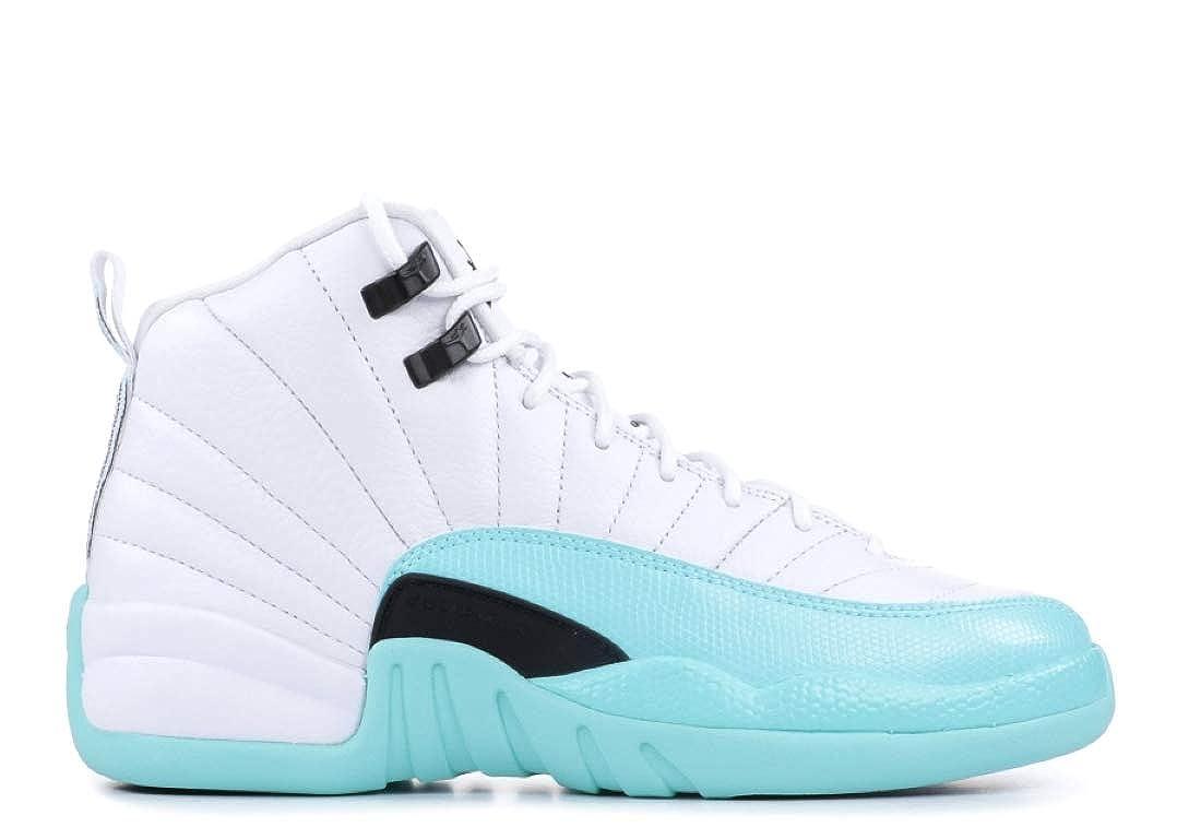 separation shoes 27425 dc35a Jordan Nike Air 12 Retro GS Kids Light Aqua 510815-100 (Size: 4Y)