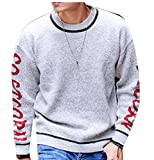 Product review for ouxiuli Mens Stripe Long Sleeve Pullover Lightweight Tunic Sweaters