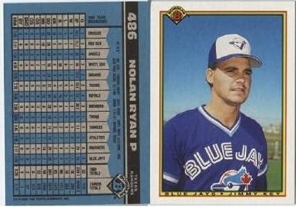 Rare Vintage 1990 Bowman 486 Nolan Ryan Rare Wrong Front Error Card