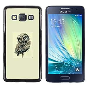 Samsung Galaxy A3 , Many Eyed Owl - Abstract Art - Cáscara Funda Case Caso De Plástico