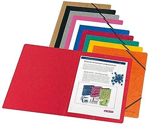 355 g//qm Herlitz 11166816 Eckspanner A4 Colorspan 10er Packung Sortiert