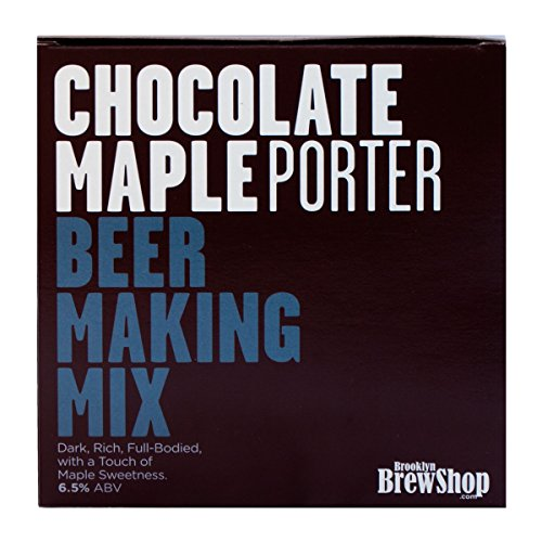 (Brooklyn Brew Shop Chocolate Maple Porter 1 Gallon All-Grain Beer Making Mix Including Hops and Yeast - Perfect for Brewing Craft Beer on Your Stovetop at Home)