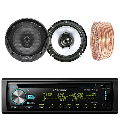 Pioneer DEH-S6000BS Car CD Player Receiver Bluetooth USB AUX Radio - Bundle Combo with 2X Kenwood KFC1665S 6.5
