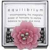 Equilibrium Jewellery - Large Pink Flower and Beads Acrylic Hematite Bracelet