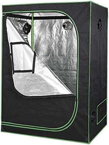 Nova Microdermabrasion 48 x24 x60 Mylar Hydroponic Grow Tent with Observation Window and Floor Tray, High Reflective Growing Tent Room for Indoor Plant Fruit Flower Veg