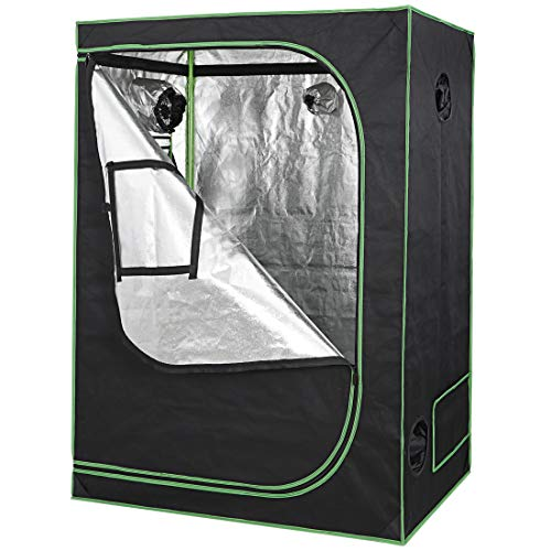 """Nova Microdermabrasion 48""""x24""""x60"""" Mylar Hydroponic Grow Tent with Observation Window and Floor Tray, High Reflective Growing Tent Room for Indoor Plant Fruit Flower Veg"""