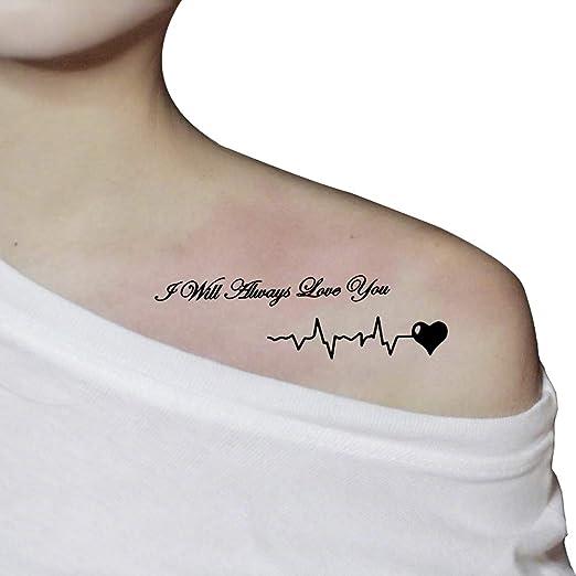 Tahly - Adhesivo de tatuaje temporal, diseño de letras en negro ...