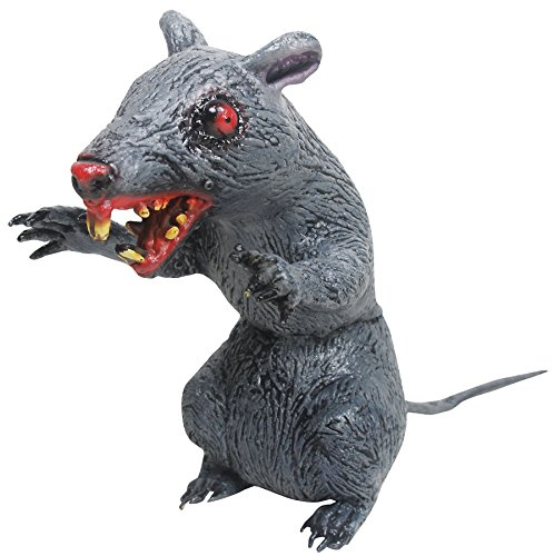 Scary Latex Rat (UHC Scary Sitting Evil Latex Rat Horror Party Decoration Halloween Prop)
