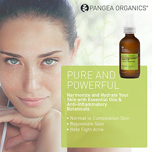 Pangea Organics Facial Toner | Italian Green Mandarin With Sweet Lime | Filled with Essential Oils and Botanicals | Ideal for Normal to Combination Skin | 2 & 4 Ounces Skin Care Toner