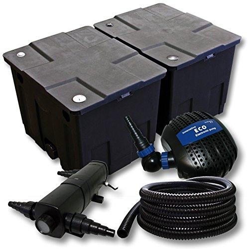 Filter-Set-aus-Bio-Teichfilter-60000l-UVC-Teichklrer-mit-36W85W-Pumpe-25mSchlauch