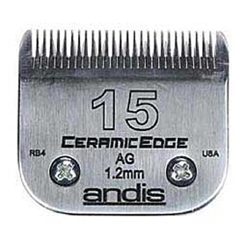 Stainless Steel Pro Quality Grooming CERAMIC EDGE CLIPPER BLADES CHOOSE SIZE !(# 30 = .5mm) by Andis (Image #1)