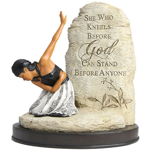 African American Expressions - She Who Kneels Figurine (6.25