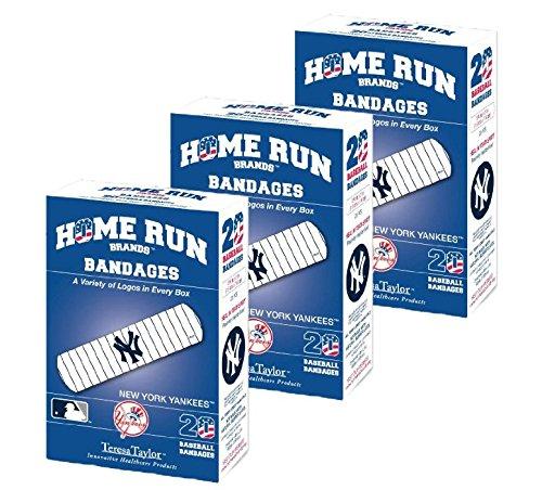 Set of 3 Boxes (60 total bandages) Home Run Brands New York Yankees (Home Run Set)