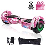 EPCTEK Hoverboards Smart Scooter Two-Wheel Self Balancing Electric Scooter for Kids Adult Gifts UL 2272 Certified with LED Wheels Lights Carry Bag