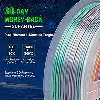 SUNLU Rainbow PLA Filament 1.75mm 3D Printer Rainbow Filament ...