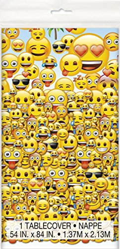 Emoji Plastic Tablecloth 84 54