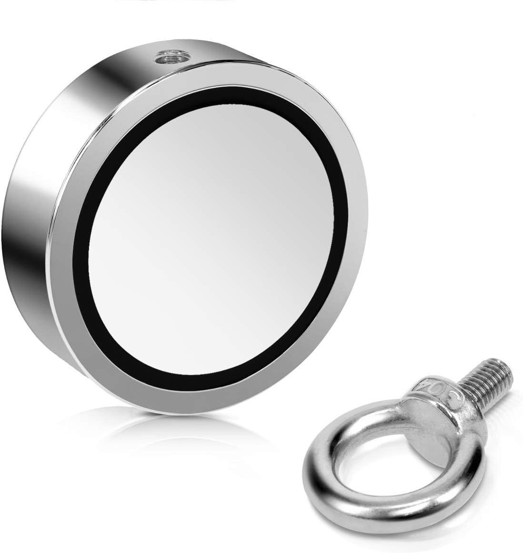 Magnet puissant 700 kg force de traction R/écup/ération objet magn/étique Navaris Aimant de p/êche en n/éodyme