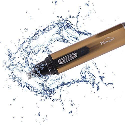 Nose Hair Trimmer,Wishesport Ear Nose Hair Trimmer Stainless Steel Blades Beard Clipper Wet/Dry For Men And Women,Golden