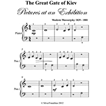Great Gate of Kiev Pictures at an Exhibition Beginner Piano Sheet Music