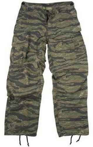 Camouflage Cargo Pants Tiger Stripe Camo Vintage Fatigue Pants