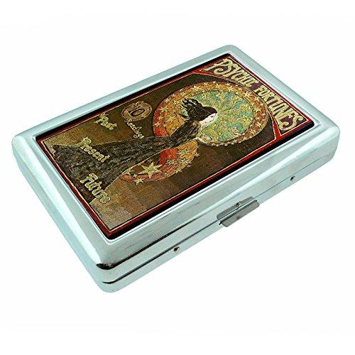 - Vintage Gypsy Woman Fortune Teller S8 Silver Cigarette Case Metal Wallet Id Holder 4