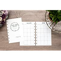 2018 Monthly Calendar for Disc-Bound Planners, Fits Circa Junior, Arc by Staples, Half Letter Size 5.5