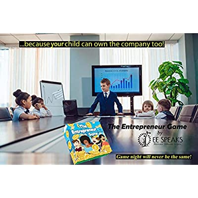 The Entrepreneur Game by EESpeaks- Hottest New STEM Based Educational Family Board Game Teaching Business, Finance, Negotiations, Budgeting and Investing by Toastmasters International WCPS Finalist: Toys & Games