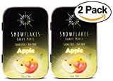 Snowflakes Xylitol Candy- Made with only 2 ingredients (2-PACK) (Apple)