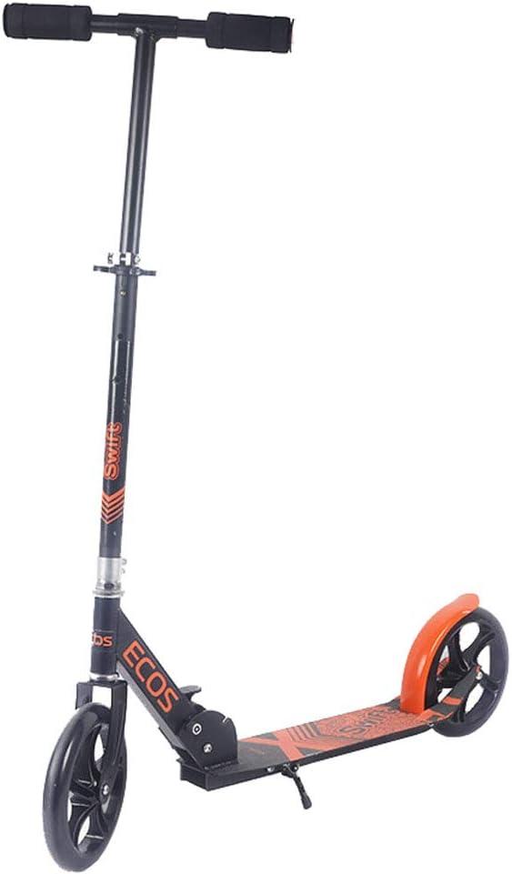 スクーター2輪調節可能な高さ - ポータブル超軽量折りたたみ式ティーンキックスクーター、8歳以上の子供のための誕生日プレゼント、サポート220ポンド