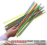 KOVOT Oversize Pick Up Sticks Game - Includes (31) Giant 17'' Inch Bamboo Sticks And Game Instructions