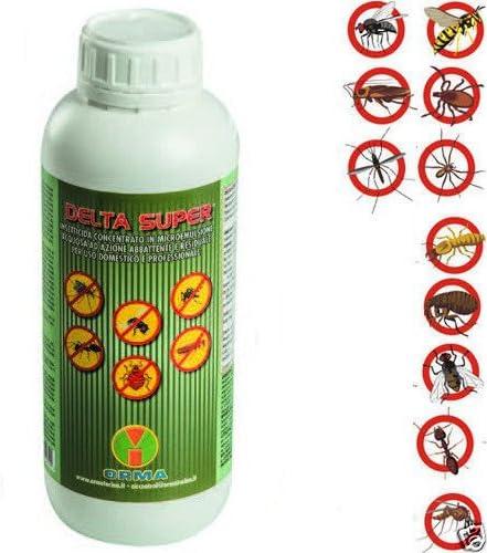 6 x lt.1 Delta Super Insecticida concentrado Moscas Mosquitos ...