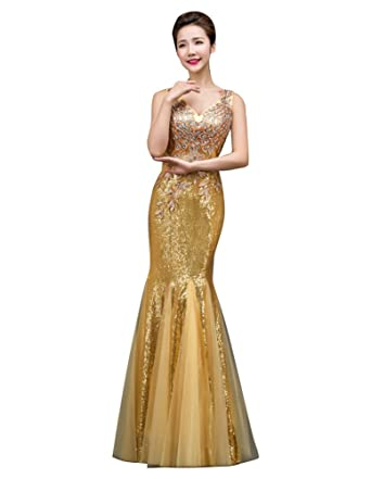 40433de88c Amazon.com: Beauty-Emily Womens Long Mermaid Evening Dresses ...