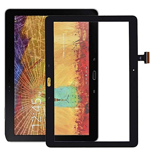 Hd Touch Panel Touch Panel Digitizer for Galaxy Note 10.1 (2014 Editon) / P600 / P601 / P605(White/Black) (Color : Black)