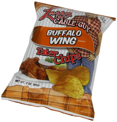 Larry the Cable Guy Tater Chips, Buffalo Wing, 3 Ounce (Pack of 12)