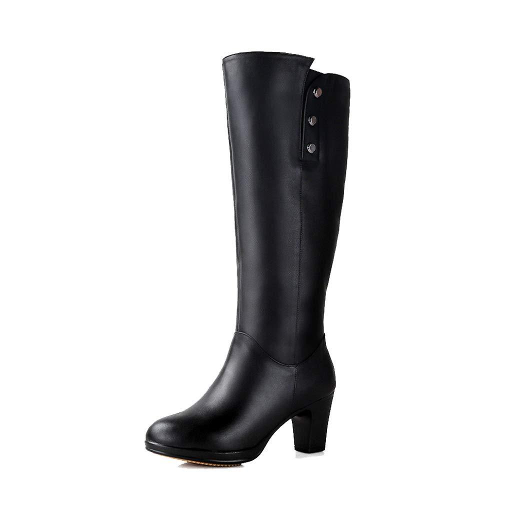 5b1dbdc6e1819 Schnee Stiefel Pelz EIN Leder Winter warm Plus Samt Outdoor Leder ...