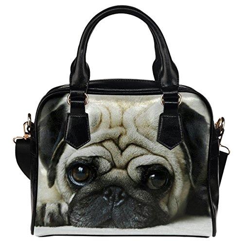 Girl's InterestPrint Puppy Sho Leather Pug And Women's PU Dog Aslant qpHTxX6