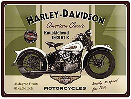 """Antique style 13/""""x10/"""" sign Harley Davidson motorcycle motor oil"""