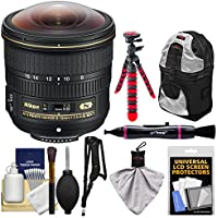 Nikon 8-15mm f/3.5-4.5E ED AF-S Fisheye-Nikkor Lens with Backpack + Tripod + Sling Strap + Kit