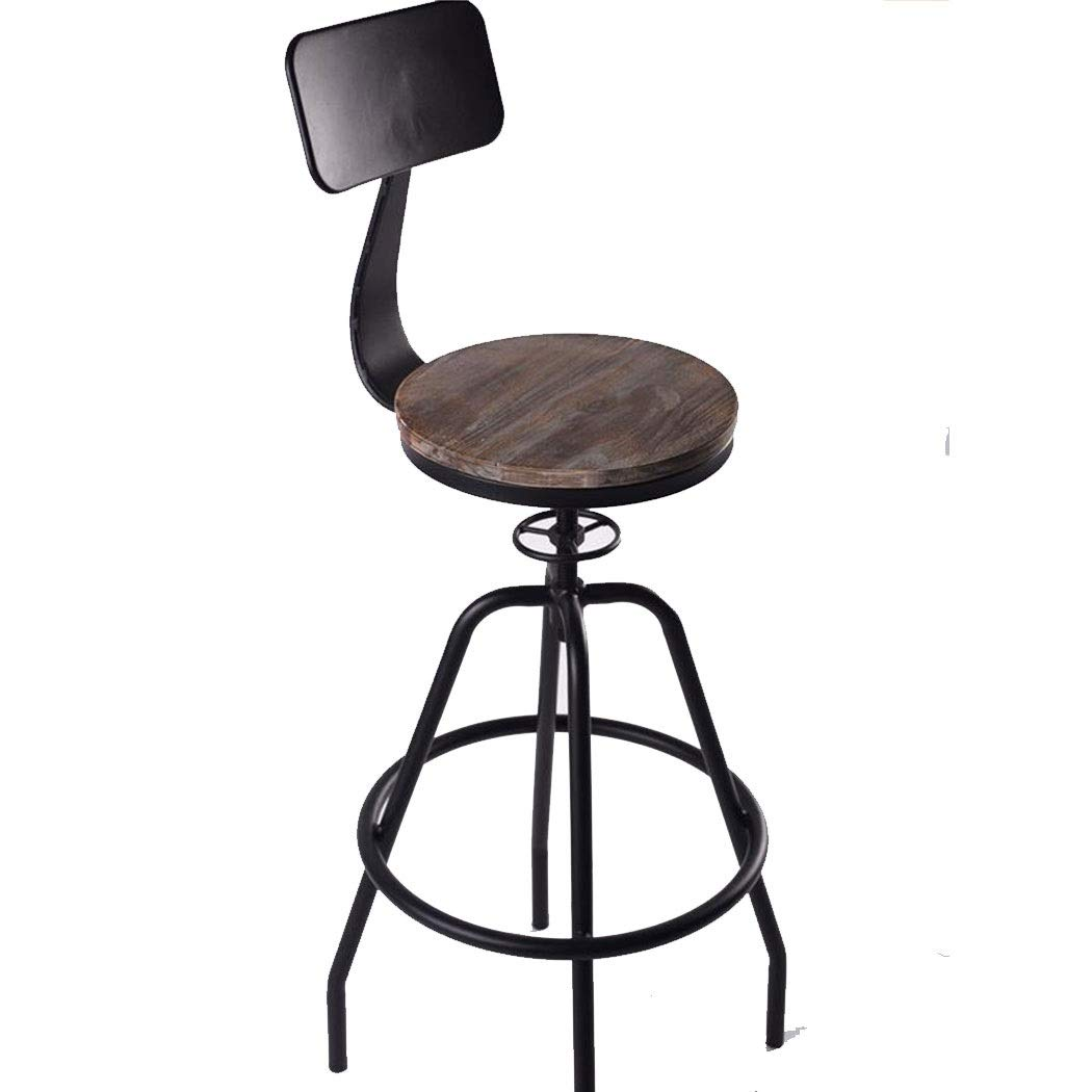 Pleasant Amazon Com Gjfeng Iron Wood Industrial Style Small Caraccident5 Cool Chair Designs And Ideas Caraccident5Info