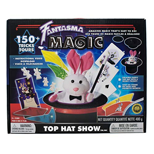 Fantasma Top Hat Show Magic Set for Kids - Magic Kit to Learn More Than 150 Magic Tricks - Great for Boys and Girls 6 Years and Older (The Best Magic Show)