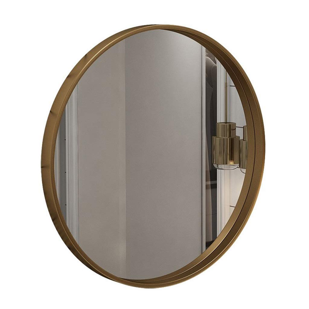 40CM WXF Round Wall Mounted Mirror, Large Modern Round Metal Framed Big Wall Mirror Natural Daylight Oversize Decorative Mirror for Living Room Or Bathroom (Size   40CM)