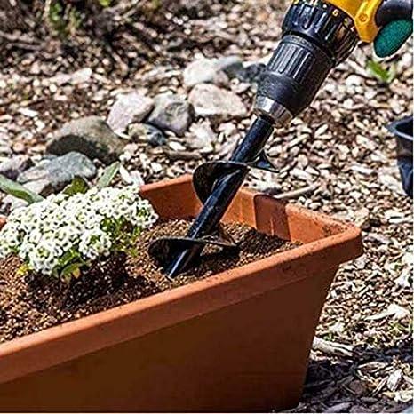 Delidraw Garten-Schnecken-Spiralbohrer zum Pflanzen von Beet Bulbs S/ämlingen
