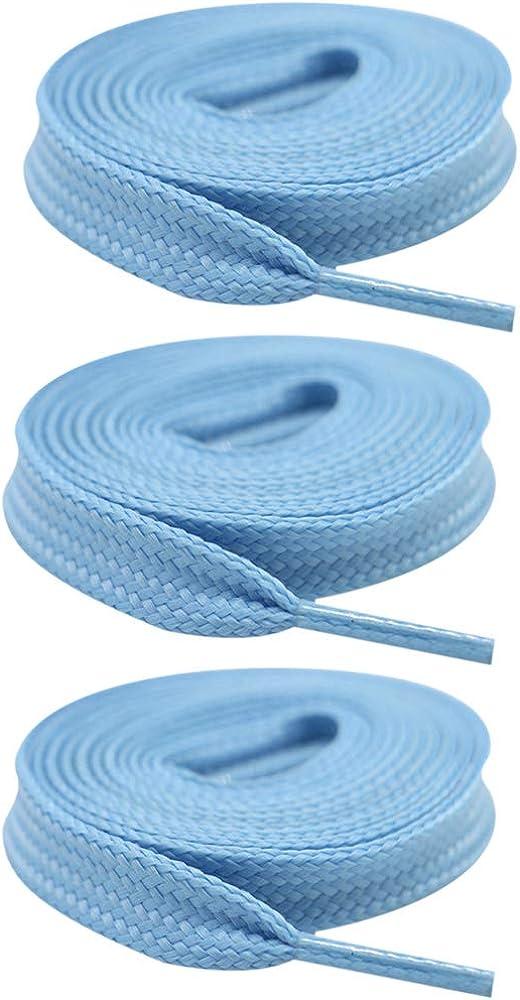 3 Pares Luminoso Poli/éster Colores Cordones Zapatillas para Adultos Ni/ños Zapatillas y Calzado deportivo SENDILI Planos Cordones Zapatos