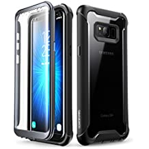 i-Blason Samsung Galaxy S8+ Plus case, [Ares] Full-Body Rugged Clear Bumper Case with Built-in Screen Protector for Samsung Galaxy S8+ Plus 2017 Release (Black)