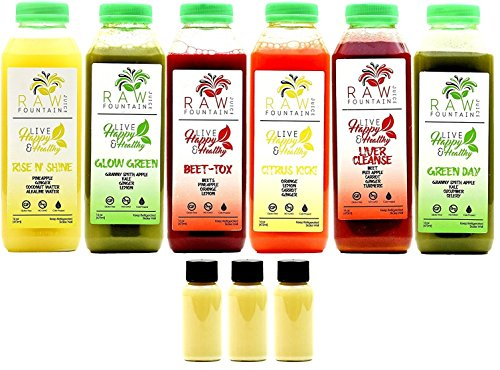 3-Day-Juice-Cleanse-by-Raw-Fountain-Juice-100-Fresh-Natural-Organic-Raw-Vegetable-Fruit-Juices-Detox-Your-Body-in-a-Healthy-Tasty-Way-18-Bottles-16-fl-oz-3-BONUS-Ginger-Shots